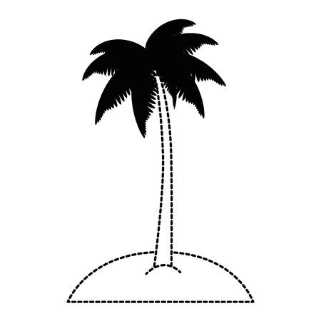 tropical palm tree icon vector illustration design
