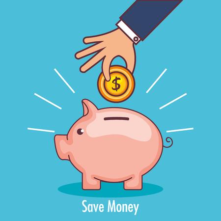 Illustration pour Piggy savings money icon vector illustration design. - image libre de droit