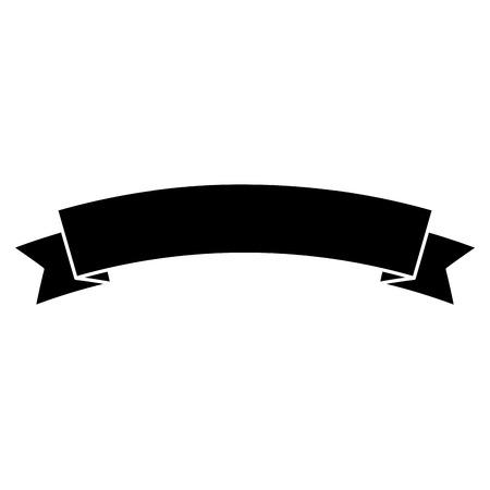 Illustration pour Ribbon banner icon image. Vector illustration design black and white. - image libre de droit