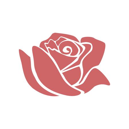 Illustration pour Beautiful rose  icon  illustration design - image libre de droit