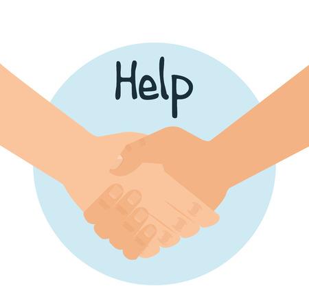 Illustration pour Handshake human help icon vector illustration design - image libre de droit