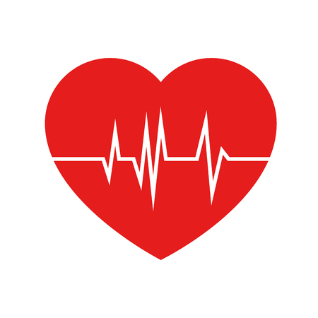 Ilustración de heart cardio isolated icon vector illustration design - Imagen libre de derechos