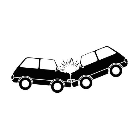 Illustration pour cars crash accident icon vector illustration design - image libre de droit