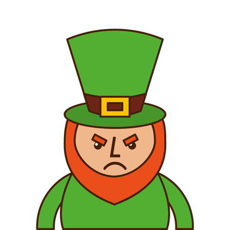St. Patrick's day portrait of a angry leprechaun vector illustration