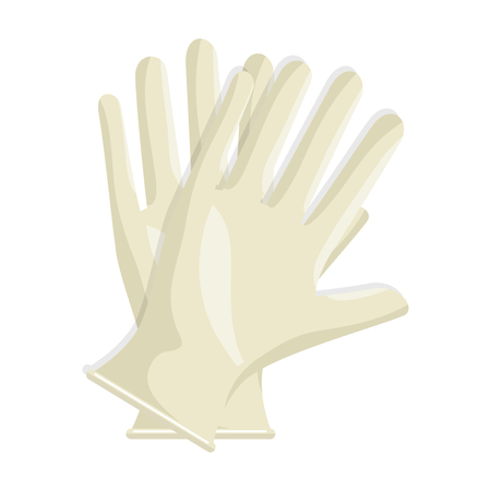Ilustración de Surgical gloves isolated icon vector illustration design - Imagen libre de derechos