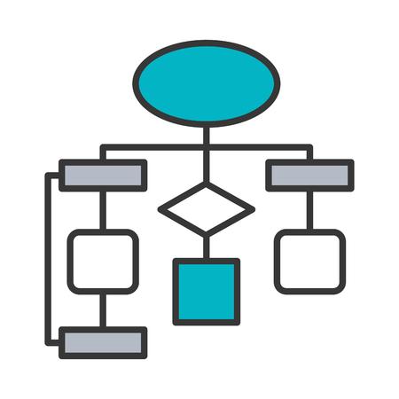 Illustration pour diagram flow chart connection empty vector illustration - image libre de droit