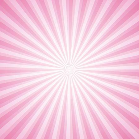 striped pink ray burst background vintage vector illustration