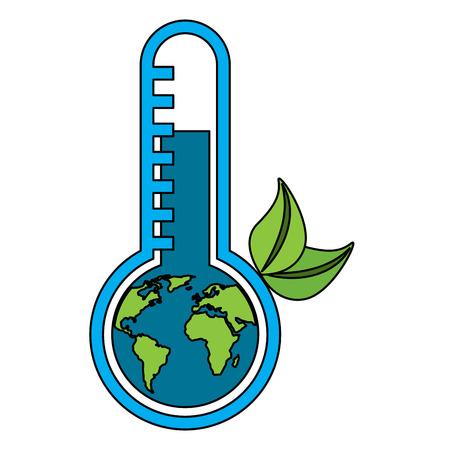 Planet Earth's temperature vector illustration