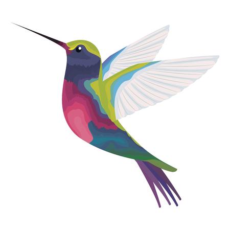 Ilustración de cute hummingbird flying icon vector illustration design - Imagen libre de derechos
