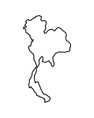 thailand map geography location country vector illustration outline image