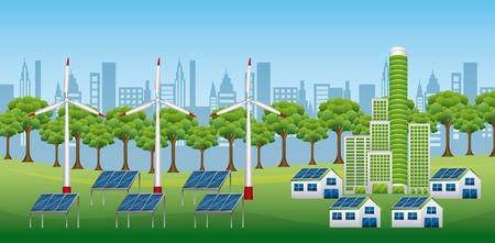 Ilustración de Renewable sustainable energy source illustration - Imagen libre de derechos