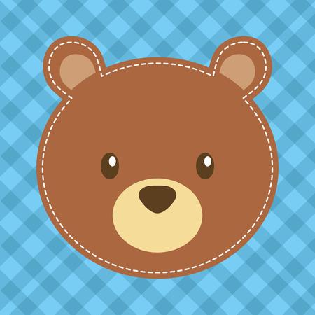 Illustration pour cute head bear teddy bear vector illustration - image libre de droit