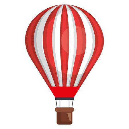 Ilustración de balloon air hot flying vector illustration design - Imagen libre de derechos