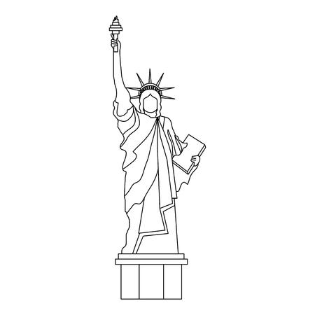 liberty statue monument icon vector illustration design