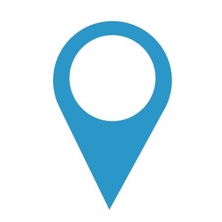 Illustration pour A pin pointer location icon in blue. - image libre de droit
