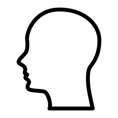 Ilustración de silhouette human head male character vector illustration outline - Imagen libre de derechos