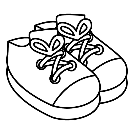 Baby Shoes Isolated Icon Vector Illustration Design Royalty Free Vector Graphics