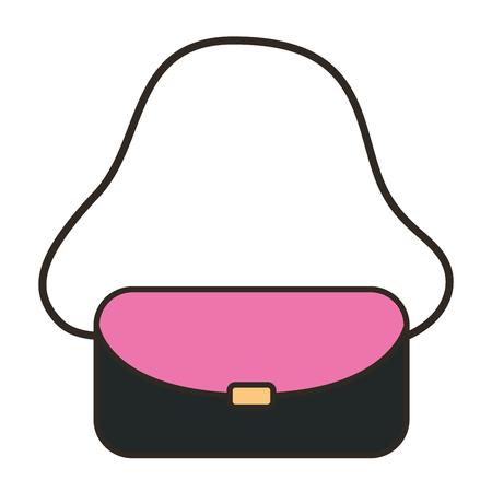 Illustration pour female handbag fashion icon vector illustration design - image libre de droit