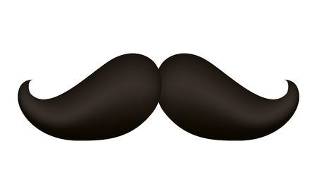 Illustration for Hipster mustache accessory icon vector illustration design - Royalty Free Image