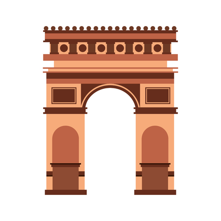 Arch of triumph France monument vector illustration