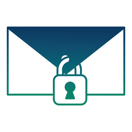 Illustration pour cyber security email spam padlock protection message vector illustration - image libre de droit