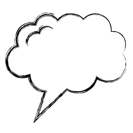 Illustration pour speech bubble with dream shaped icon vector illustration design - image libre de droit