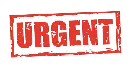 Ilustración de Urgent stamp design, vector illustration graphic - Imagen libre de derechos