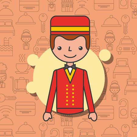 Illustration pour Porter character professional work vector illustration - image libre de droit