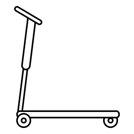Kick scooter isolated icon vector illustration design