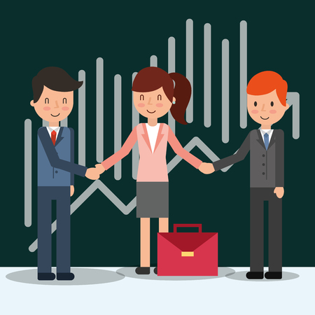 Illustration pour business people characters teamwork coworkers vector illustration - image libre de droit