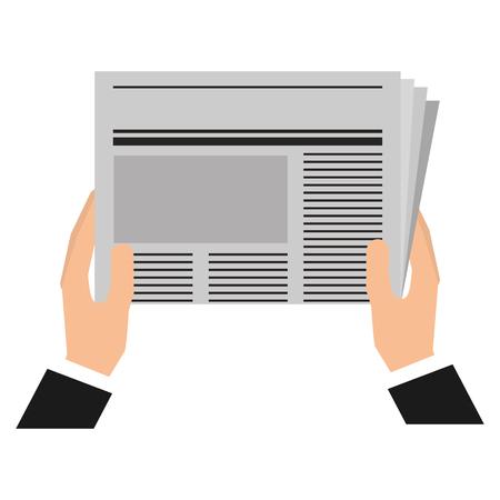 Illustration pour hands reader with newspaper daily vector illustration design - image libre de droit