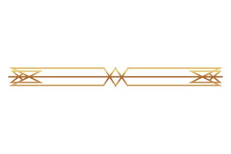 Ilustración de border ornate gold decoration vintage vector illustration - Imagen libre de derechos