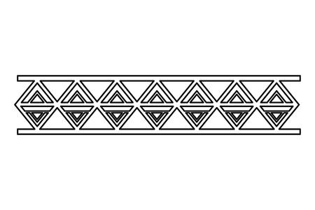 Ilustración de border ornate vignette decoration vintage vector illustration - Imagen libre de derechos