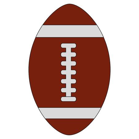 Ilustración de american football ball equipment sport vector illustration - Imagen libre de derechos