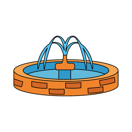 Illustration pour park sink water icon vector illustration design - image libre de droit