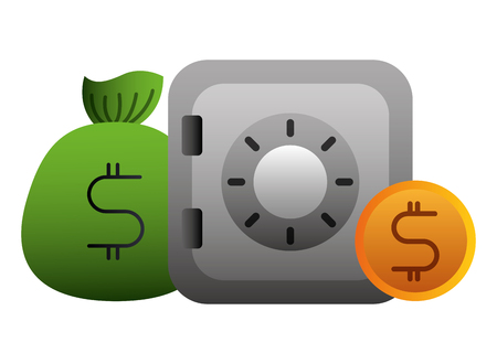 Illustration pour economy and finances set icons vector illustration design - image libre de droit