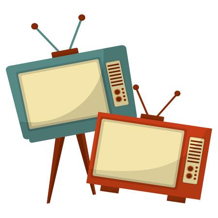 Ilustración de tvs old retro style vector illustration design - Imagen libre de derechos
