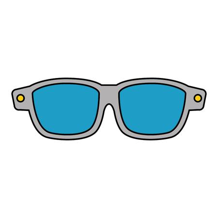 winter eye glasses icon vector illustration design