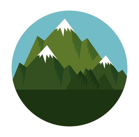 Illustration pour mountains with snow scene vector illustration design - image libre de droit