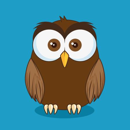 Ilustración de little cute owl character vector illustration design - Imagen libre de derechos