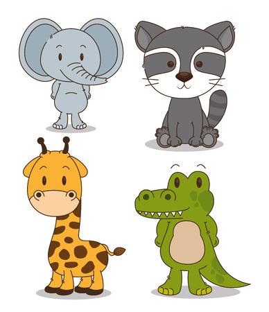 Foto de little and cute animals group vector illustration design - Imagen libre de derechos