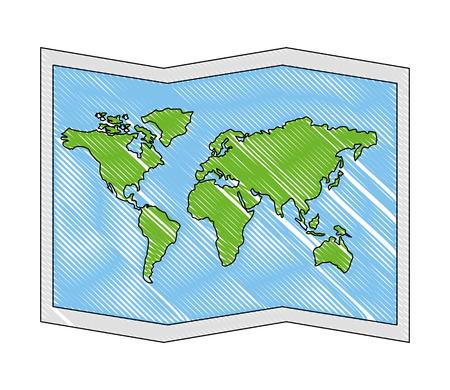 Illustration pour world paper map icon vector illustration design - image libre de droit