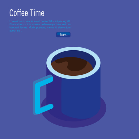 coffee cup isometric icon vector illustration design
