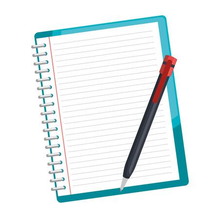 Illustration pour notebook school with pencil vector illustration design - image libre de droit
