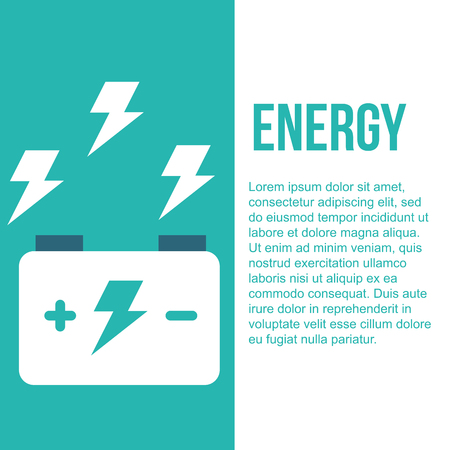 accumulator battery energy power and electricity vector illustration
