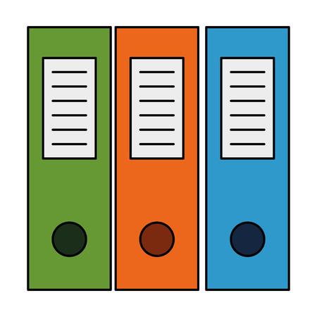 Illustration pour office files organiser icon vector illustration design - image libre de droit