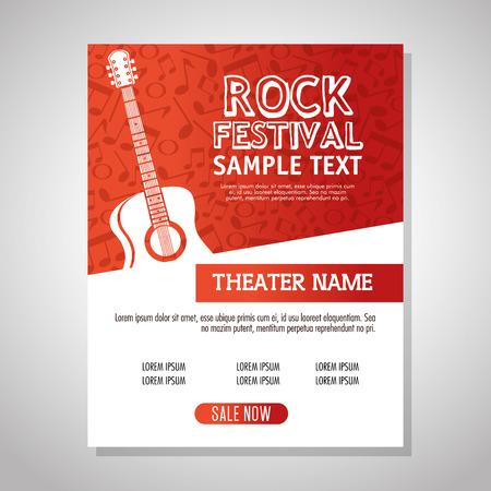 Illustration pour guitar acoustic instrument label vector illustration design - image libre de droit