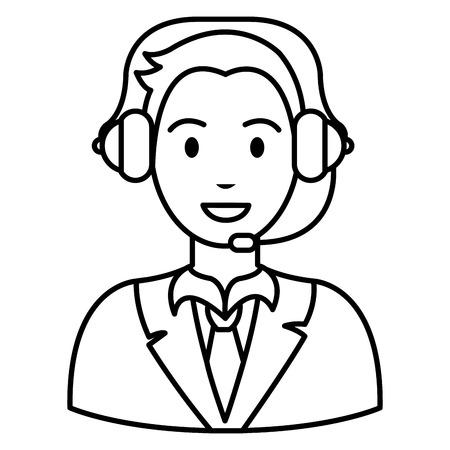 Vektor für call center agent with headset vector illustration design - Lizenzfreies Bild