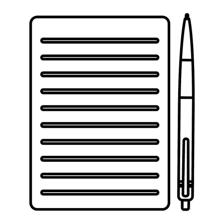 Photo pour pencil write with documents vector illustration design - image libre de droit