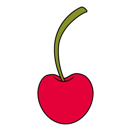 Illustration pour fresh cherry healthy food vector illustration design - image libre de droit